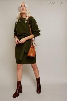Little Mistress Mika Slash Neck Knit Dress