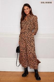 Girl In Mind Angela Animal Print Dress