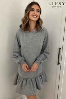 Lipsy Hoodie Frill Sweater Dress