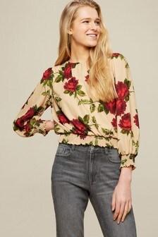 Dorothy Perkins Shirred Hem Floral Top