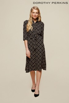 Dorothy Perkins Non Print Midi Shirt Dress