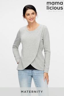 Mamalicious Maternity Nursing Wrap Sweatshirt