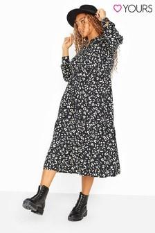 Yours Curve Animal Markings Midi Shirt Dress