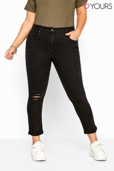 Yours Curve Ripped Mom Jeans