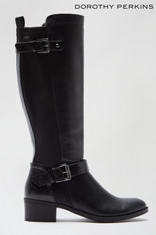 Dorothy Perkins Kabby Knee High Pu Boot
