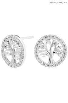 Simply Silver 12Ct Gold Polished Mini Twist Hoop Earrings