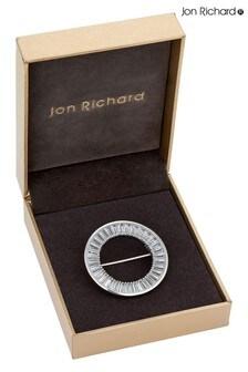 Jon Richard Crystal Circle Brooch in a Gift Box