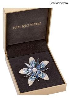 Jon Richard Blue Ombre Flower Brooch