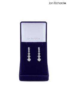 Jon Richard Cubic Zirconia Graduated Tennis Drop Earrings in a Gift Box