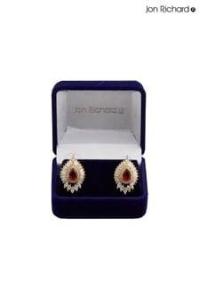 Jon Richard Gold Baguette Earrings in a Gift Box
