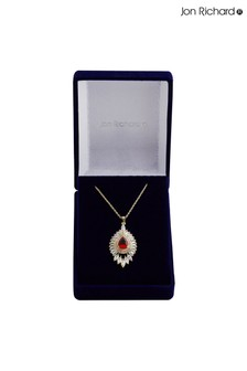 Jon Richard Gold Baguette Pendant Necklace in a Gift Box