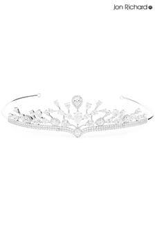 Jon Richard Aurora Cubic Zirconia Halo Pear Statement Crown Tiara