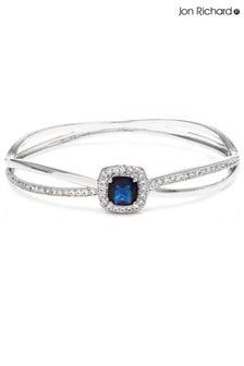 Jon Richard Cross Over Blue Bangle Bracelet