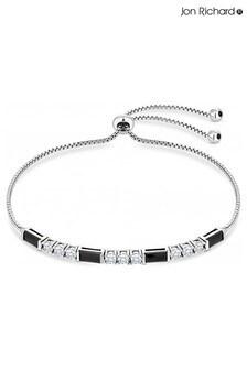 Jon Richard Cubic Zirconia Jet And Crystal Toggle Bracelet