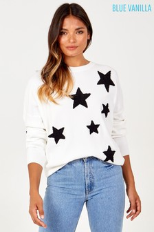 Blue Vanilla Star Print Jumper