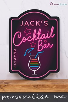 Personalised Neon Effect Bar Sign by Loveabode