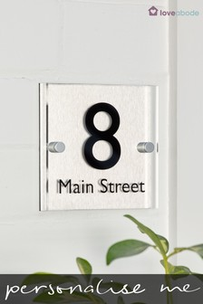 Personalised House Number Sign by Loveabode