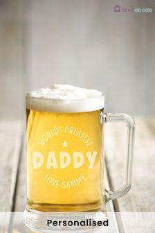 Personalised Dad Beer Tankard by Loveabode