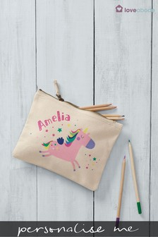 Personalised Unicorn Accessories Bag By Loveabode