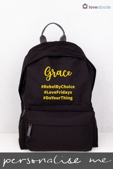 Personalised Name Hashtag Backpack Backpack By Loveabode
