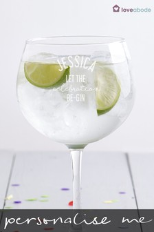 Personalised Celebration Gin Balloon Glass By Loveabode