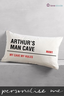 Personalised Man Cave Cushion By Loveabode