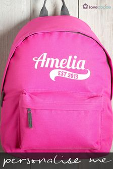 Personalised Backpack By Loveabode