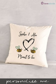 Personalised Meant To Bee Cushion by Loveabode