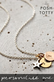 Personalised Mixed Sun Moon and Star Necklace by Posh Totty Designs