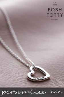 Personalised Mini Love Heart Necklace by Posh Totty Designs