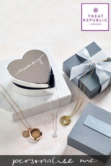 Personalised Heart Jewellery Box by Treat Republic
