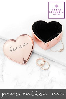 Personalised Heart Trinket Box by Treat Republic