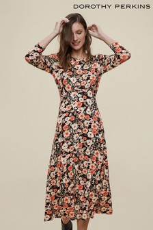 Dorothy Perkins 3/4 Sleeve Empire Seam Midi Dress