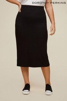 Dorothy Perkins Curve Ribbed Skirt