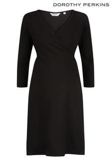Dorothy Perkins Maternity Wrap 3/4 Length Sleeve Wrap Dress