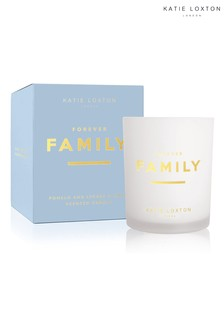 Katie Loxton Sentiment Candle | Forever Family | Pomelo and Lychee Flower | 160g