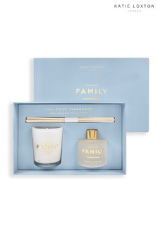 Katie Loxton Sentiment Mini Fragrance Set | Forever Family | Pomelo and Lychee Flower | 62g Candle 50ml Diffuser