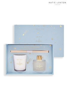 Katie Loxton Sentiment Mini Fragrance Set | One in A Million | Star Print | Sweet Pomelo and Lychee Flower | 62g Candle 50ml Diffuser