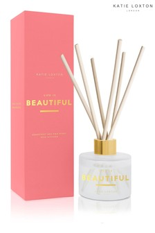 Katie Loxton Sentiment Reed Diffuser | Life is Beautiful | Grapefruit and Pink Peony | 100ml
