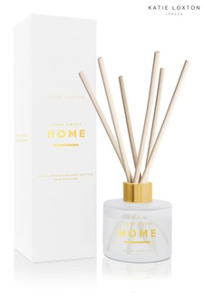 Katie Loxton Sentiment Reed Diffuser | Home Sweet Home | White Orchid and Soft Cotton | 100ml