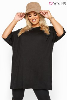 Yours Curve Jersey Oversized T-Shirt