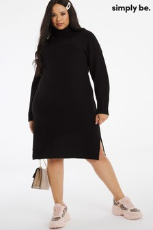 Simply Be Cosy High Neck Jumper Dress