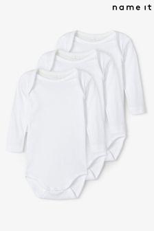 Name It 3 Pack Long Sleeve Baby Bodysuit