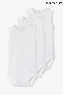 Name It 3 Pack Sleeveless Baby Bodysuit