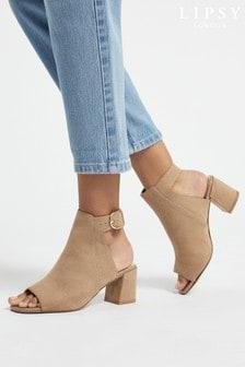 Lipsy Block Heel Peep Shoe Boot