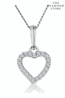 The Diamond Store Stellato Diamond Heart Necklace