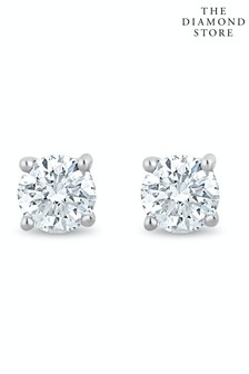 The Diamond Store Lab Diamond Stud Earrings 0.10ct H/Si Quality 2.4mm