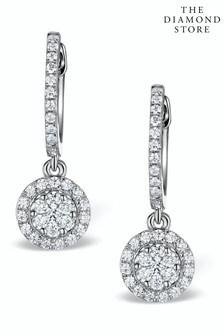 The Diamond Store Halo Lab Diamond Drop Earrings Florence 0.46ct