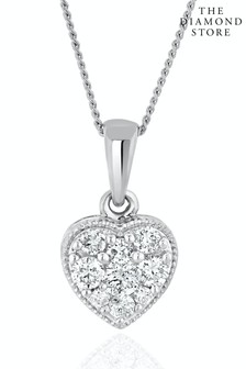The Diamond Store Lab Diamond Heart Pendant Necklace 0.25ct H/Si