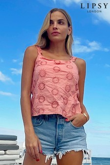 Lipsy Broderie Cami Top